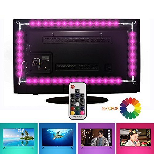 Pack de 4 tiras LED para iluminar TV con mando a distancia EveShine