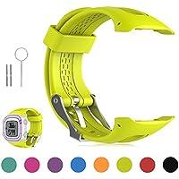 FESKIO - Correa para reloj deportivo Garmin Forerunner 10/Forerunner 15GPS, de silicona suave (tamaño grande/pequeño), S/Women Size, Lime