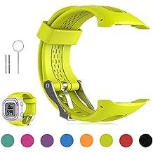 FESKIO - Correa para reloj deportivo Garmin Forerunner 10/Forerunner 15 GPS, de silicona