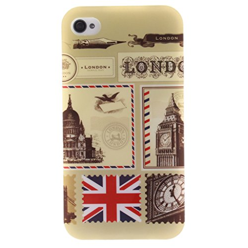MYTHOLLOGY iphone 4s Coque, Doux Flexible Case Silicone TPU Protection Cover Housse iphone 4 / iphone 4s Drapeau FGLD