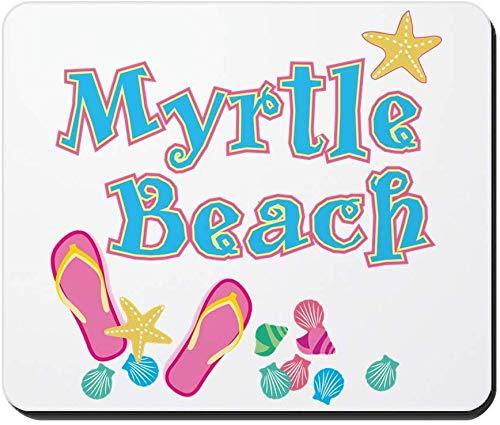 Myrtle Beach Flip Flops Rutschfestes Gummi Mousepad, Gaming Mouse Pad