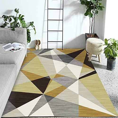 Pgron home design bambini semplice decorazioni moderno geometrico salotto tavolino camera pelo corto tappeti triangolo giallo senape grigio velluto antiscivolo in cristallo 160×230cm