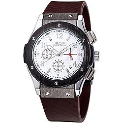 YPS Men Number&Nail Shape Scale Quartz Movement Multifunction Sub Dials Calendar Luminous Wrist Watch WTH5314