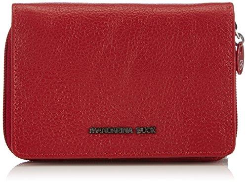 Mandarina Duck MELLOW 142FZP04, Portafogli in pelle Donna, Rosso (Rosso (rosso)), 3x10x14 cm (B x H x T)