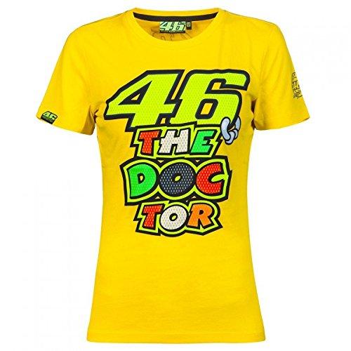Camiseta Mujer Valentino Rossi 46 The Doctor Amarillo (L , Amarillo)