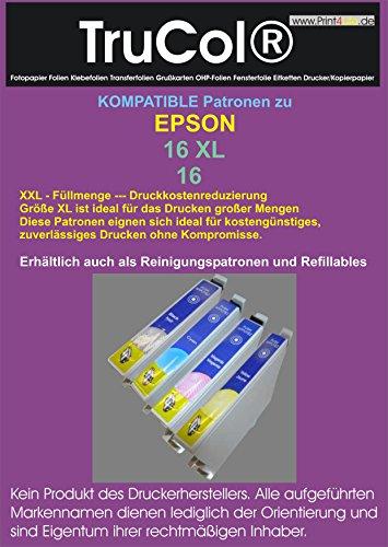 14-magenta-inkjet-druckkopf (Reinigungspatronen- 4 Reinigungspatronen kompatibel zu T1631 T1632 T1633 T1634 XL-Inhalt - Druckerpatronen / Tintenpatronen kompatibel zu T1631XL-T1634XL Epson WorkForce WF-2010W ; WF-2510WF ; WF-2520NF ; WF-2530WF ; WF-2540WF)