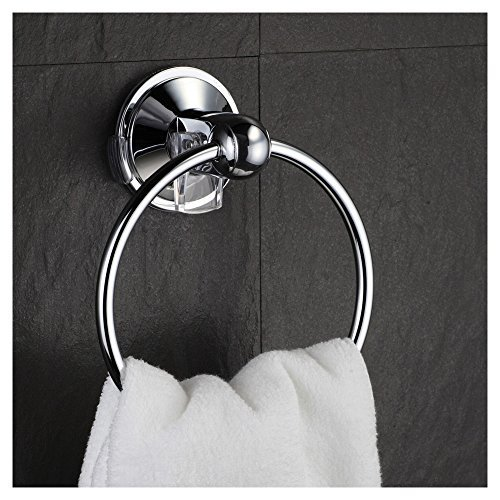 HotelSpa AquaCare series Insta-mount Towel Ring - Drill Free, Mounts instantly on all smooth or textured surfaces without tools, drilling and surface damage by HotelSpa