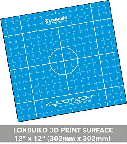 Teile Grid (lokbuild 3D Print Bj Oberfläche, Sticky Back Tabelle, schnelles, sauberes Entfernen von Bedruckte Teile, vielseitig, SINGLE 12