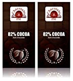 Chocolate & Me : 82% Cocoa Dark Chocolate, 180 Grams (Pack Of 2)