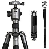 AUKEY Treppiedi Fotocamera con Testa a Sfera in Alluminio Leggero con 1/4'' Piastra a Sgancio Rapido e Borsa Stativo da Trasporto per Canon, Nikon, Sony ed altre DSLR