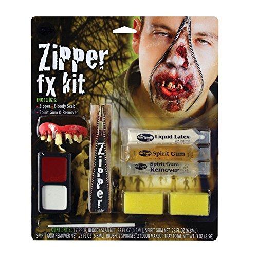 New Zipper FX Make Up Kit Halloween Realistic Blood