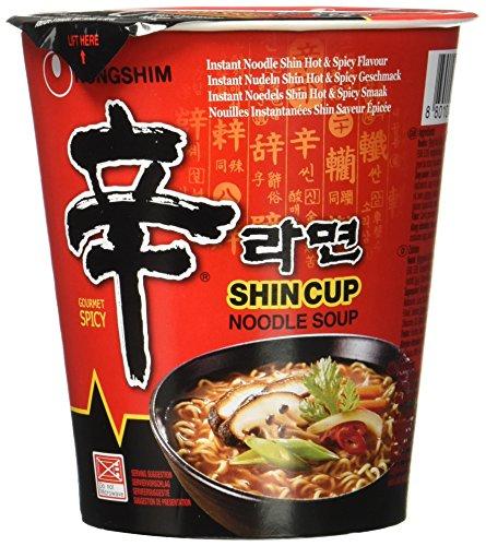 Nong Shim Instantnudeln Shin Ramyun / Koreanische Cup Suppe scharf (schnelle Zubereitung) Korea Essen