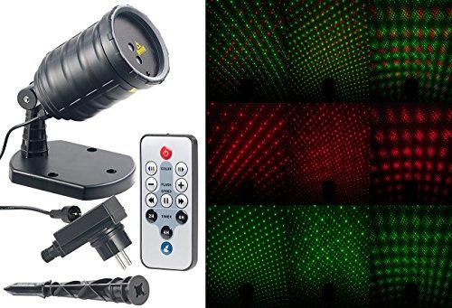 Lunartec Star Shower: Laser-Projektor mit Sternenregen-Lichteffekt, Fernbedien, Timer, IP65 (Sternenhimmel)