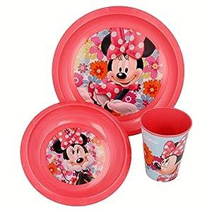 Mouse-23710 Minnie Mouse - Set vaso, plato y cuenco (Stor 23710) (