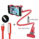 #5: mobile stand for bed and table || Phone Holder || Lazy Bracket Mobile Phone Stand || 100% Original || Flexible Gooseneck Long Arm Clip || for Apple iPhone Samsung Moto Redmi OnePlus Lenovo Lazy Stand [Color - Black]