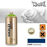 Montana Cans 285714 Montana Spray Dose Gold 400ml-SHOCK COLORS, Gld400-s5020-Shock Blue Dark