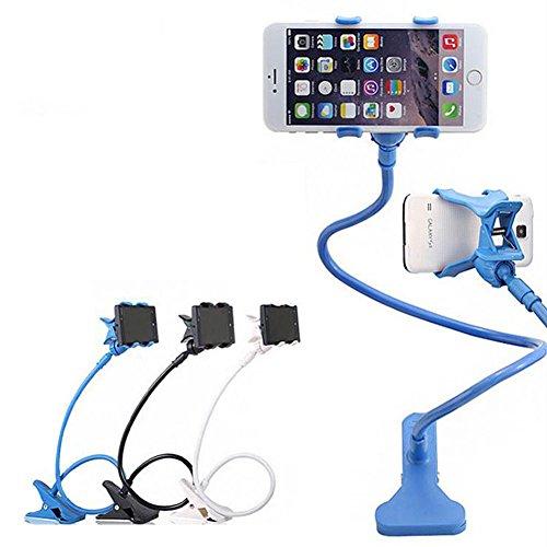 Poschell Supporto Telefono Universale Porta Cellulare Clip,iPhone 6 plus / 6 / 5s / 5 / 4S / 4, Dispositivi GPS, Supporto Mobile Attacco Per Letto, Scrivania, Camera da Letto, Ufficio, Bagno, Cucina, ecc . (Blue)