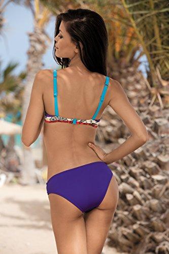 Feba Figurformender Damen Push Up Bikini Daniela Muster-02DK