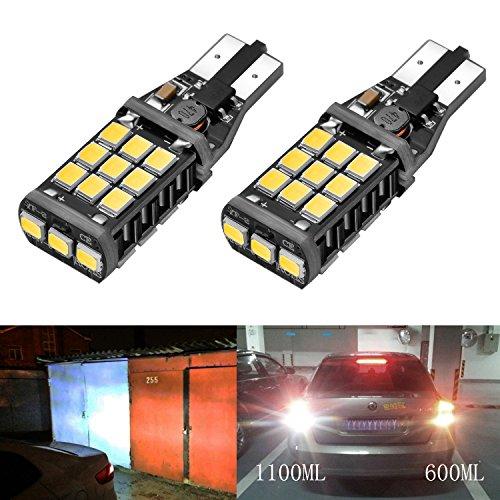 Preisvergleich Produktbild LED-Licht Bogao, Ersatz für Rücklicht, 1100Lumen, 921912W16W Canbus, fehlerfrei, extrem helle Chipsätze 21SMD 2838, Xenon Weiß (2Stück)