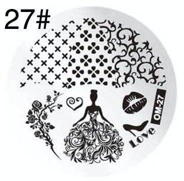 'Pochoir de stamping # 27 Cendrillon \