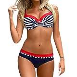 Bfmyxgs Womens Fashion Padded Push-up Bra Bikini Set Swimsuit Bathing Suit Swimwear Beachwear