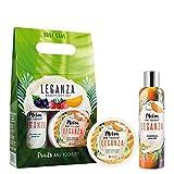 Leganza Geschenkset Duschgel und Mousse Körpercreme mit Joghurt und Melone Reichhaltige und...