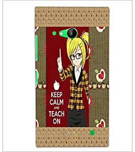 PrintDhaba Quote D-5091 Back Case Cover for NOKIA LUMIA 730 (Multi-Coloured)