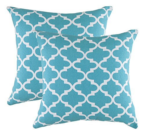treewool-pack-of-2-cotton-canvas-trellis-accent-decorative-cushion-covers-50-x-50-cm-turquoise