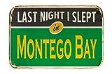 LEotiE SINCE 2004 Fuß Hunde Matte Bett Reisen Küche Montego Bay Jamaika Bedruckt 40x60 cm