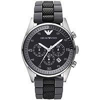 Emporio Armani Sportivo Men's Black Dial Silicone Chronograph Watch - AR5866