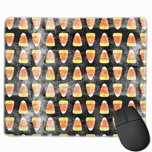 Candy Corn - Black Distressed C18BS_75304 Mouse pad Custom Gaming Mousepad Nonslip Rubber Backing 9.8