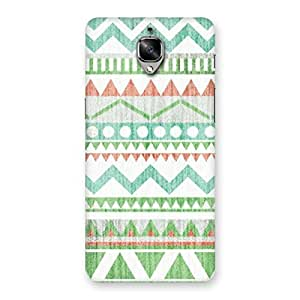 Neo World Green Tribal Print Back Case Cover for OnePlus 3