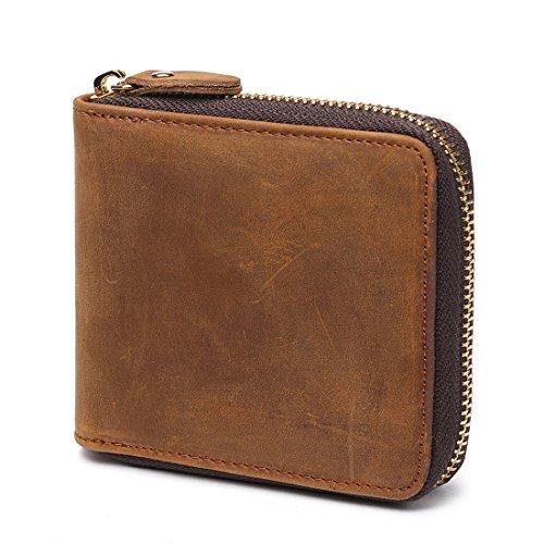 Huztencor Geldbörse Herren Leder Portemonnaie Geldbeutel Portmonee Börse Brieftasche Geldtasche...
