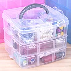 Zollyss 3 layers detachable DIY desktop storage box Transparent Plastic Storage Box Jewelry Organizer Holder Cabinets for small objects