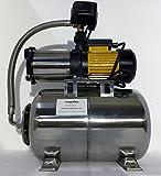 Hauswasserwerk megafixx S5-24ES 1100 Watt 24 Liter Edelstahl Druckkessel