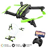 MROSW Quadricoptère Mini Drones Caméra Grand Angle Hélicoptère RC Drone X Pro Télécommande Pliable Easy Drones avec 480P Caméra HD