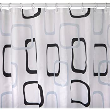 White Fabric Shower Curtain With Rings 180 X 200 Cm Extra Long Shower  Curtain 200cm Shower