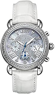 JBW Luxury Women's Victory 16 Diamonds Mother of Pearl Chronograph W