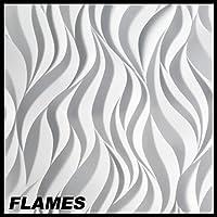 6,5 m2 Platten 3D Paneele Wandverkleidung Decke Wandplatten 60x60cm FLAMES