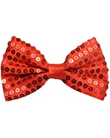 ADULTS SEQUIN BOW TIE ONE SIZE AVAILABLE IN 6 COLOURS GOLD, BLACK, GREEN, SILVER, RED OR PINK BOWTIE. IDEAL FOR CLOWNS, DANCE & STAGE SHOWS.