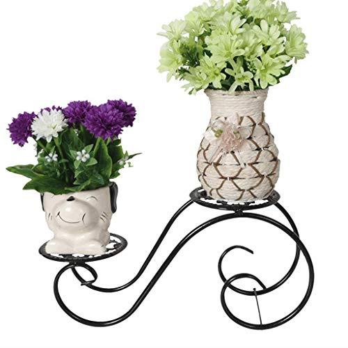 Classic Regal Couchtisch (TYUIO Classic Plant Stand-Regal für 2-Blumen-PotModern Minimalist Floor Mehrschicht-Blumentopf, Größe -15 * 32 * 12 cm)