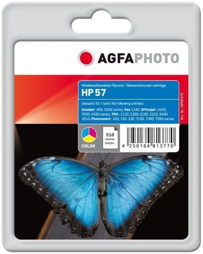 Preisvergleich Produktbild AgfaPhoto APHP57C Tinte für HP DJ5550, 24 ml, farbig