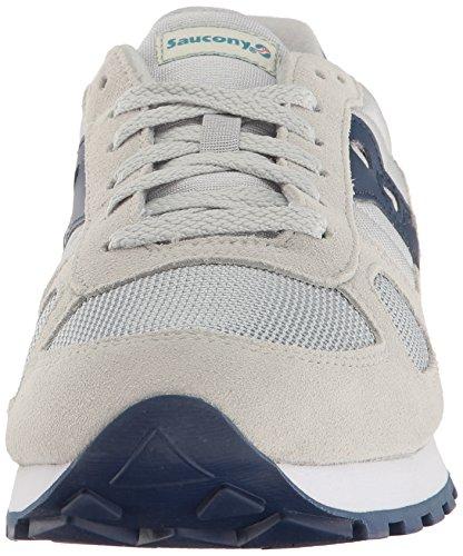 in suede Shadow Saucony Grey tessuto e Navy antracite Sneaker grigio EqHfZwnwx