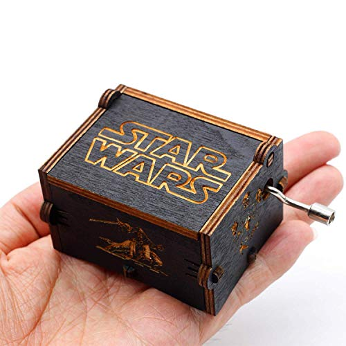 su ma Reine Hand-Klassische Star Wars Spieluhr, Hand-hölzerne Spieluhr kreative Holz Handwerk (Wars Star Tee)