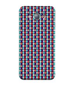 PrintVisa Designer Back Case Cover for Samsung Galaxy A8 (2015) :: Samsung Galaxy A8 Duos (2015) :: Samsung Galaxy A8 A800F A800Y (Black blue white purple red)