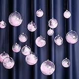 Sziqiqi 20 Pezzi Trasparenti Palle di Natale Plastica Pallina Trasparente da Riempire, Decorazioni Natalizie Albero e Matrimonio, 20 Pezzi