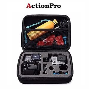 Action Pro Medium Size Travel Storage Case Compatible with GoPro SJCAM 4K Yi EKEN etc Action Camera