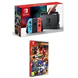 Nintendo Switch - Consola color Azul Neón/Rojo Neón + Sonic Forces Bonus Edition