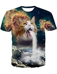 Oyedens Camiseta, NiñOs Divertidos Hombres 3d Imprimir Verano Manga Corta Ciervos Camisetas Top Blusa Camiseta