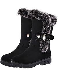 SGoodshoes Mujer Botas Piel Impermeable de la Nieve Del Invierno Zapatos Botines
